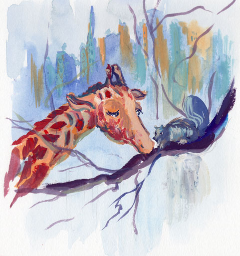 giraffe and squarel